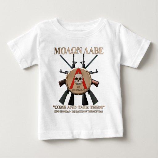 Molon Labe - escudo espartano Playeras