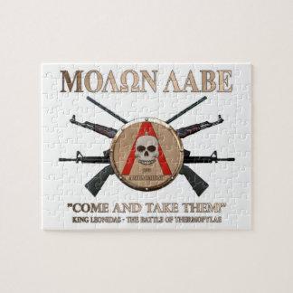 Molon Labe - escudo espartano Rompecabezas Con Fotos