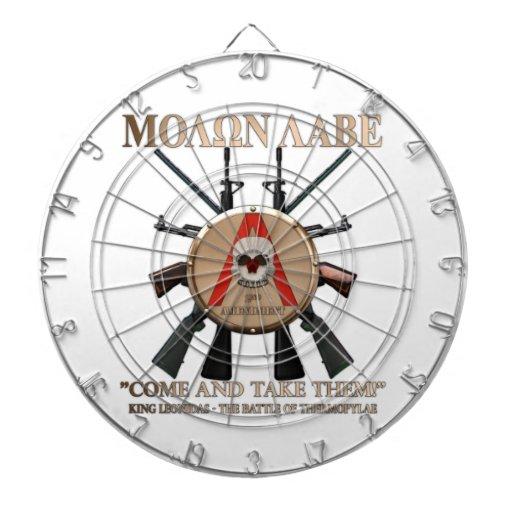 Molon Labe - escudo espartano Tabla Dardos