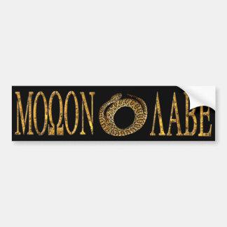Molon Labe Gadsden Flag Sticker Black