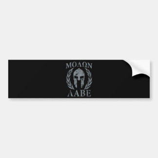 Molon Labe Grunge Spartan Armor Bumper Sticker