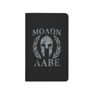 Molon Labe Grunge Spartan Armor Journal