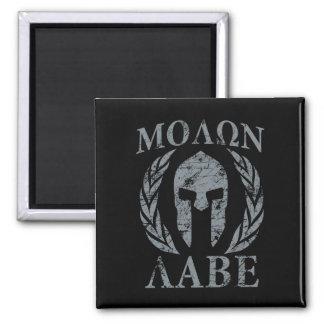Molon Labe Grunge Spartan Armor Magnet