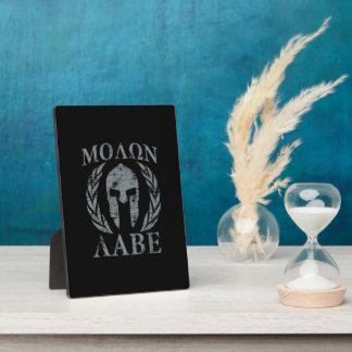 Molon Labe Grunge Spartan Armor Plaque