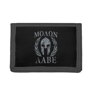 Molon Labe Grunge Spartan Armor Trifold Wallet
