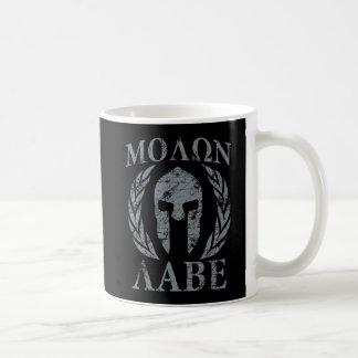 Molon Labe Grunge Spartan Helmet Coffee Mug