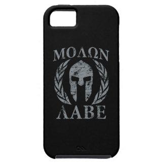 Molon Labe Grunge Spartan Helmet iPhone SE/5/5s Case