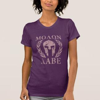 Molon Labe Grunge Spartan Helmet Tee Shirts