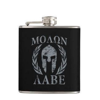 Molon Labe Grunge Spartan Mask Flask