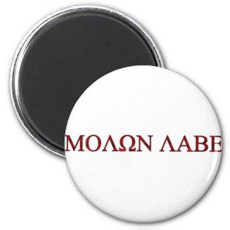 Molon Labe Imán Redondo 5 Cm