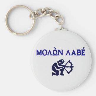 Molon Labe in Greek 2nd Amendment Basic Round Button Keychain