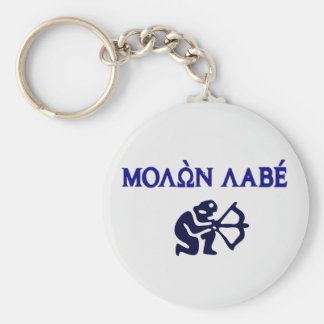 Molon Labe in Greek 2nd Amendment Keychain