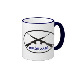 Molon Labe in Greek Letters Ringer Mug