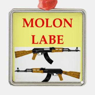 molon labe metal ornament
