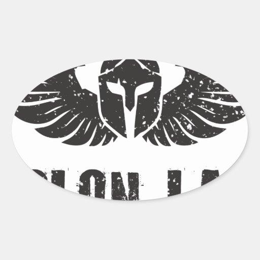 Molon Labe Oval Sticker