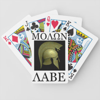 Molon Labe playing cards