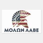 Molon Labe! Rectangle Sticker
