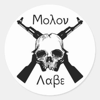 Molon Labe Round Sticker