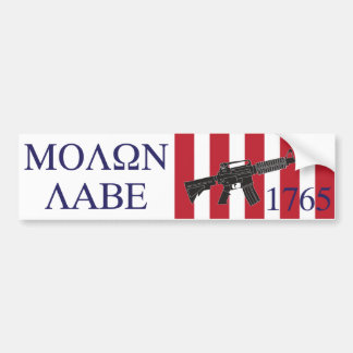 Molon Labe/Sons of Liberty Bumper Sticker