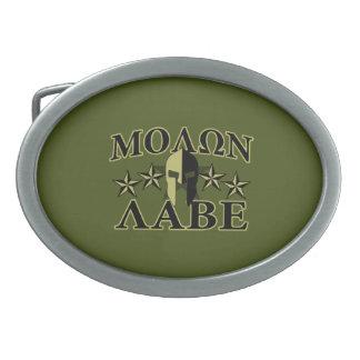Molon Labe Spartan 5 stars Olive Green Belt Buckle