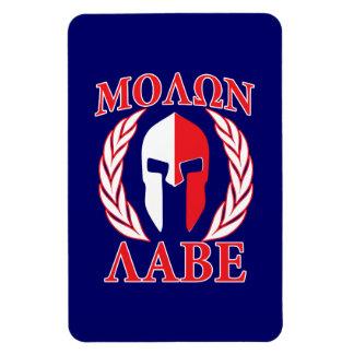 Molon Labe Spartan Armor Laurels Navy Blue Magnet