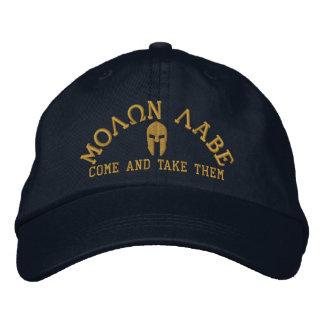 Molon Labe Spartan Helmet Embroidery Embroidered Baseball Cap
