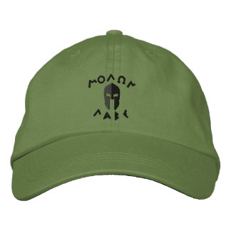 Molon Labe Spartan Helmet Embroidery Embroidered Baseball Hat