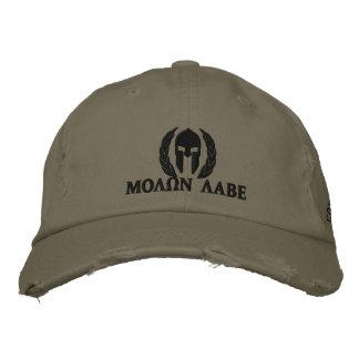 Molon Labe Spartan Helmet Laurels Embroidery Baseball Cap
