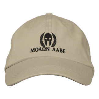 Molon Labe Spartan Helmet Laurels Embroidery Embroidered Baseball Caps