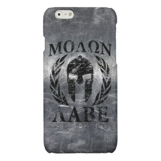 Molon Labe Spartan Helmet Laurels Glossy iPhone 6 Case