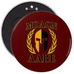 Molon Labe Spartan Helmet Laurels Gold 6 Inch Round Button