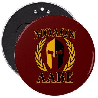 Molon Labe Spartan Helmet Laurels Gold Pin