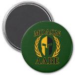 Molon Labe Spartan Helmet Laurels Gold Refrigerator Magnet