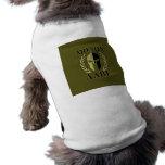 Molon Labe Spartan Helmet Laurels Olive Green Dog T Shirt