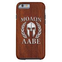 Molon Labe Spartan Helmet Laurels Tough iPhone 6 Case