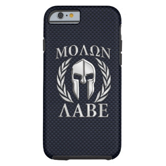 Molon Labe Spartan Helmet Laurels Tough iPhone 6 Case