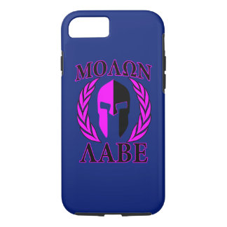 Molon Labe Spartan Helmet Laurels Tri-Color iPhone 8/7 Case