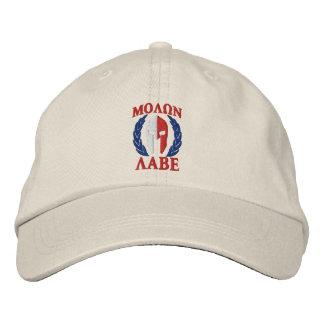 Molon Labe Spartan Helmet Laurels Tri Colors Embroidered Baseball Cap