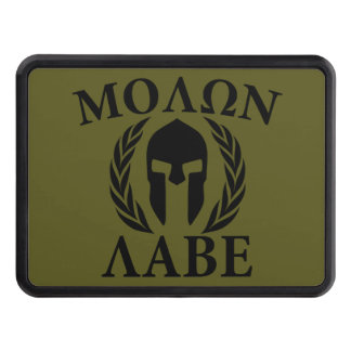 Molon Labe Spartan Helmet on Hitch Tow Hitch Cover