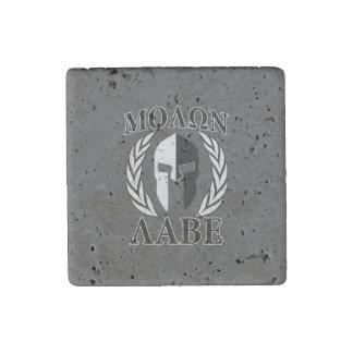 Molon Labe Spartan Helmet Warrior Laurels Graphic Stone Magnet
