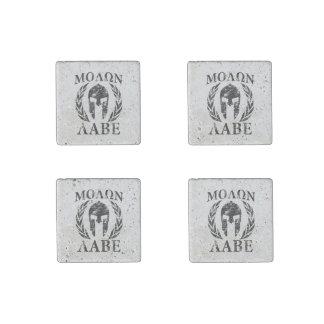 Molon Labe Spartan Helmet Warrior Laurels Stone Magnet