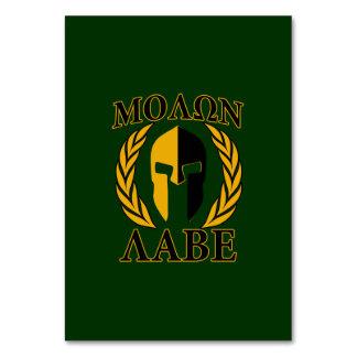 Molon Labe Spartan Laurels Forest Green Decor Card
