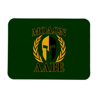 Molon Labe Spartan Laurels Forest Green Decor Magnet