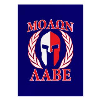 Molon Labe Spartan Laurels Tri Color Decor Large Business Card