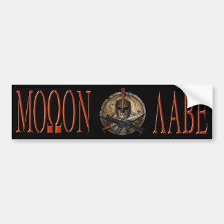 Molon Labe Spartan M-4 Bumper Sticker