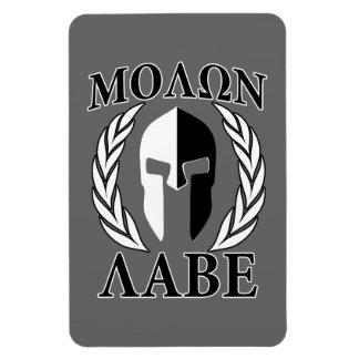 Molon Labe Spartan Mask Armor Laurels Monochrome Magnet