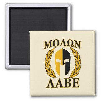Molon Labe Spartan Mask Laurels Beige Decor Magnet