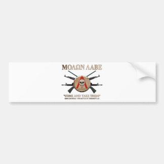 Molon Labe - Spartan Shield Bumper Sticker