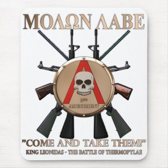 Molon Labe - Spartan Shield Mouse Pad