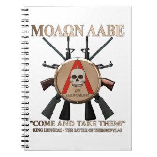 Molon Labe - Spartan Shield Spiral Notebook